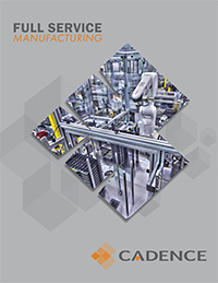 The cover of the Metal Stamping brochure.