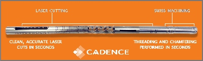 A graphic of Cadence's laser device.