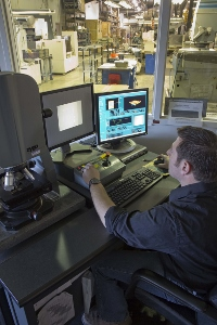 An engineer working at his workstation.