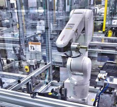An image of robotic automation in motion.