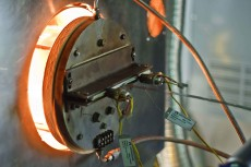 An image of the heat treating process.